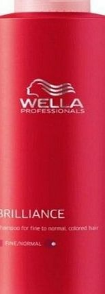 Wella Brilliance Shampoo 1000ml fine/normal [Personal Care]